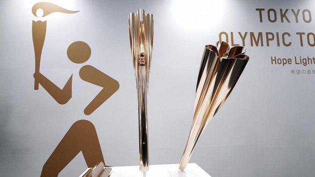 Olympijská pochodeň pro letní hry v Tokiu v roce 2020.