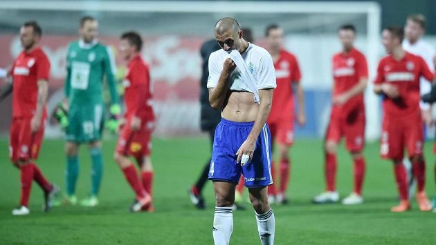 Vítězství měla Mladá Boleslav na dosah. Ze zápasu s Brnem nakonec bere jen bod. Vpředu zklamaný obránce Středočechů Douglas Da Silva.