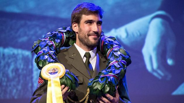 Moderní pětibojař David Svoboda během rozloučení se sportovní kariérou.