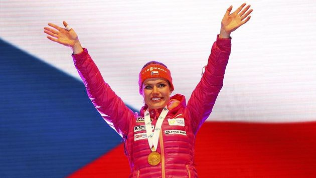 Biatlonová mistryně světa Gabriela Koukalová. Na šampionátu v Hochfilzenu vyhrála sprint na 7,5 kilometru.