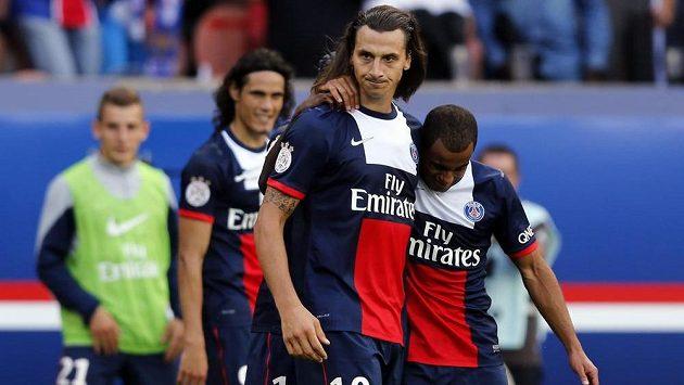 Útočník Paris Saint-Germain Zlatan Ibrahimovic se v nastaveném čase trefil do sítě Guingampu.