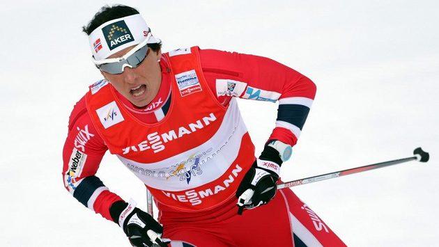 Norka Marit Björgenová si dojela na MS ve Val di Fiemme pro zlato ve sprintu.