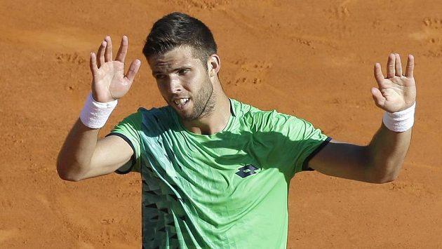 Tenista Jiří Veselý na turnaji v Monte Carlu nestačil ve 3. kole na Francouze Gaëla Monfilse.