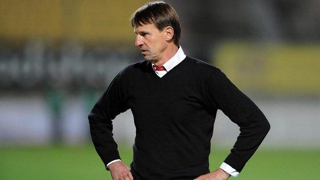 Zklamaný trenér František Straka.