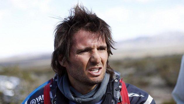 Argentinec Marcos Patronelli krátce po nehodě na Rallye Dakar.