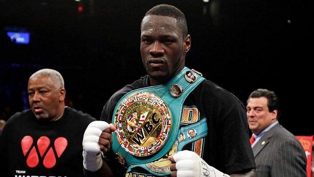 Boxerský mistr světa těžké váhy WBC Deontay Wilder.