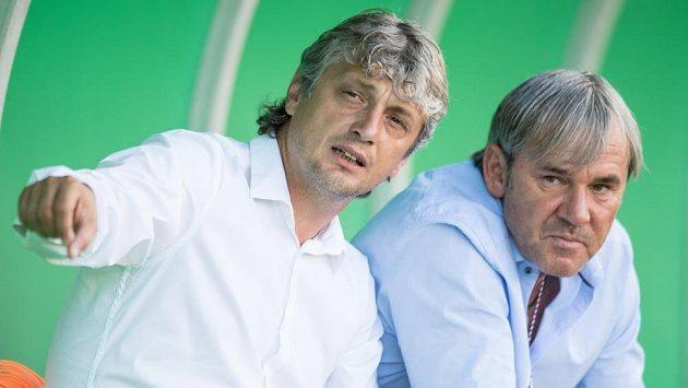 Trenér Karviné Jozef Weber (vlevo) a sportovní manažer Lubomír Vlk.