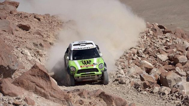 Francouz Stéphane Peterhansel na trati Rallye Dakar (ilustrační foto).