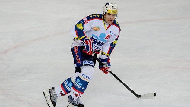 Tomáš Rolinek ještě v dresu Pardubic.