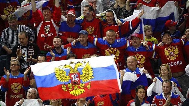 Fanoušci Ruska během hokejového MS 2017.