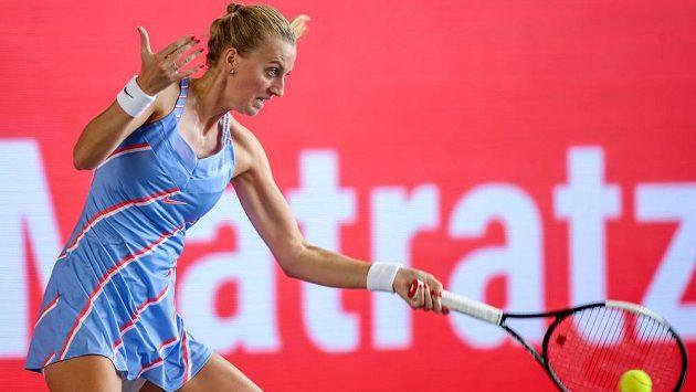 Petra Kvitová se na výhru v semifinále exhibičního turnaje v Berlíně pořádně nadřela.