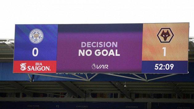 Fotbalisté Wolverhamptonu se z gólu radovali jen chvíli. Informační tabule an stadionu po minutě a půl ukázala, že jimi vstřelená branka v utkání s Leicesterem neplatí. Utkání skončilo bezbrankovou remízou.