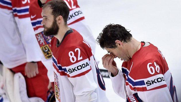 Jaromír Jágr (vpravo) si už za reprezentaci nezahraje.