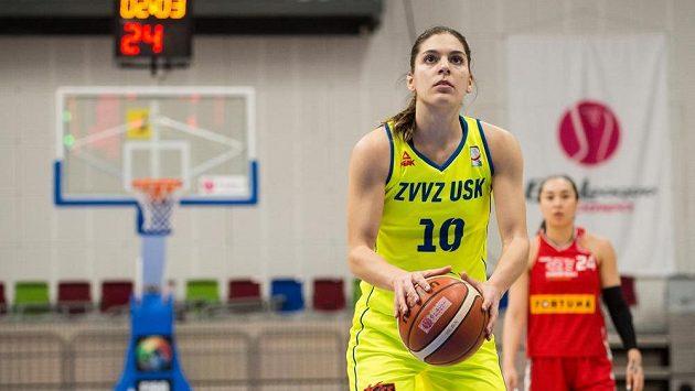 Basketbalistka USK Praha Marta Xargayová během semifinále s Nymburkem.