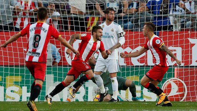 Fotbalisté Girony se radují z gólu, Real Madrid dokonale zaskočili!