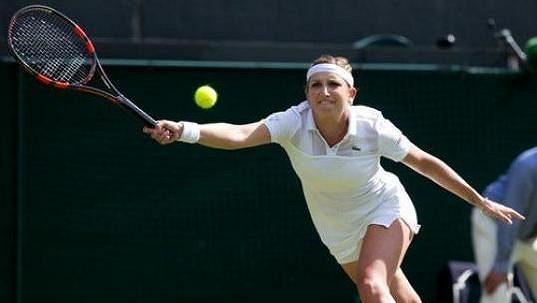 Švýcarská tenistka Timea Bacsinszká.
