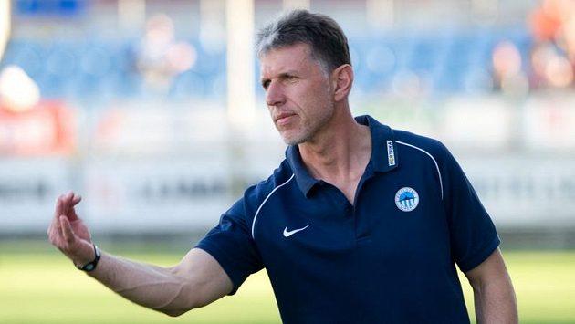 Trenér Liberce Jaroslav Šilhavý během utkání v Českých Budějovicích.