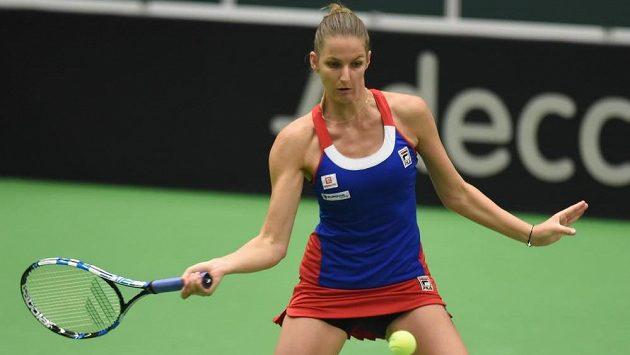 Karolína Plíšková v úvodním kole Fed Cupu.