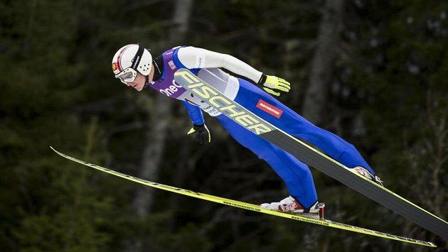 Tomáš Portyk ve skokanské části závodu v Trondheimu.