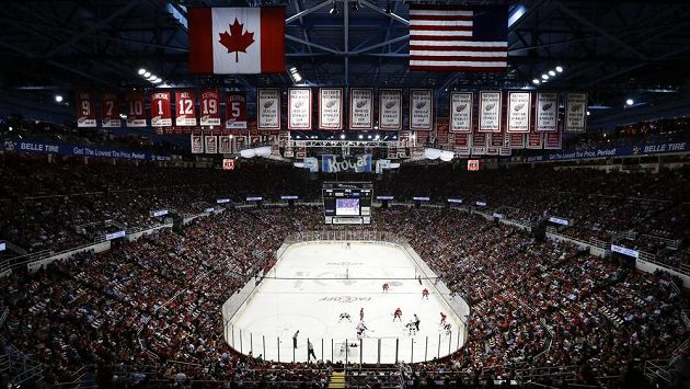 Detroitská Joe Louis Arena.