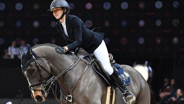 Anna Kellnerová v závěru své jízdy.