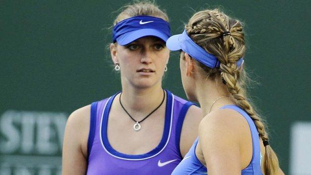 Spojení světové trojky Petry Kvitové a jedničky Viktorie Azarenkové zafungovalo.