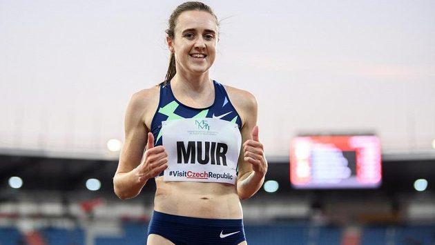 Laura Muirová během atletického mítinku Zlatá tretra.