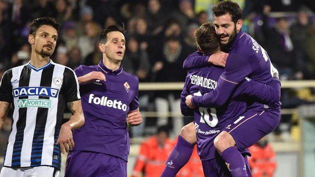 Fotbalisté Fiorentiny vyhráli v italské lize doma nad Udine 3:0.