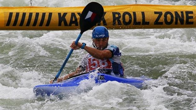 Kajakář Jiří Prskavec na mistrovství světa v Bratislavě.