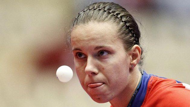Stolní tenistka Iveta Vacenovská na mistrovství Evropy v dánském Herningu.