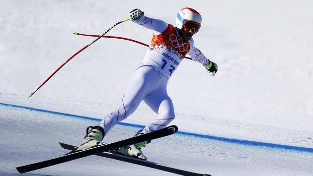 Bodie Miller se při tréninku na nedělní olympijský sjezd potížím nevyhnul.
