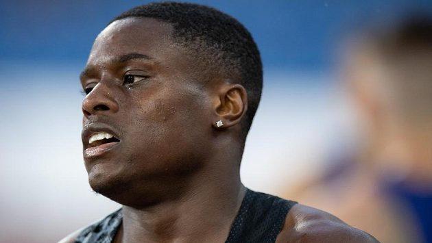 Hvězdný americký sprinter Christian Coleman.