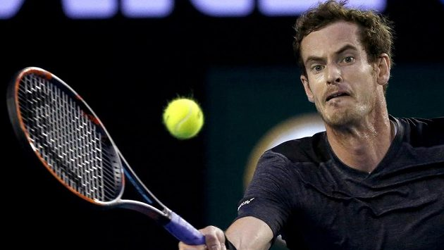 Andy Murray na letošním Australian Open.