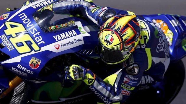 Ital Valentino Rossi při Velké ceně Argentiny silničních motocyklů.