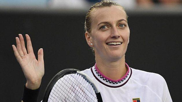 Spokojenost ve tváři české tenistky Petry Kvitové. Vydrží jí i po utkání s Bencicovou?