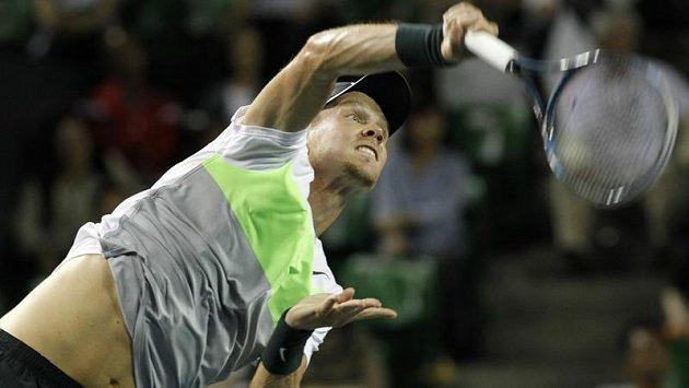 Česká tenisová jednička Tomáš Berdych.
