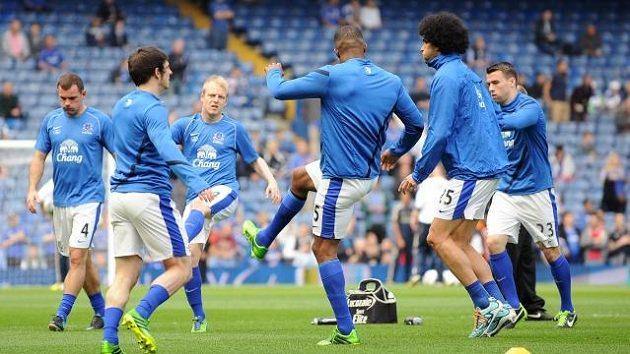 Fotbalisté Evertonu na tréninku