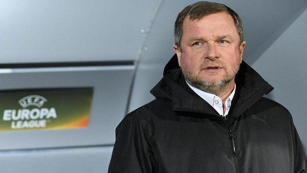 Trenér Viktorie Plzeň Pavel Vrba.