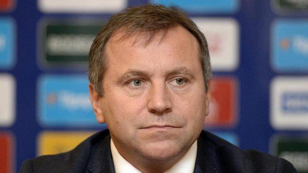 Ředitel Tipsport extraligy ledního hokeje Josef Řezníček vystoupil na tiskové konferenci k zahájení nového ročníku hokejové extraligy.