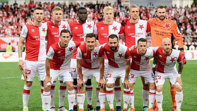 Fotbalisté Slavie Praha před finále MOL Cupu.