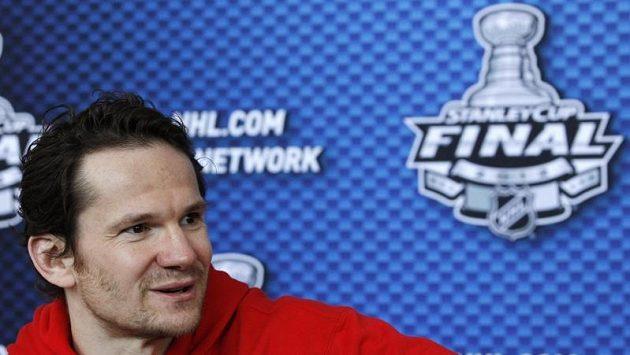 Útočník New Jersey Devils Patrik Eliáš před finále Stanley Cupu
