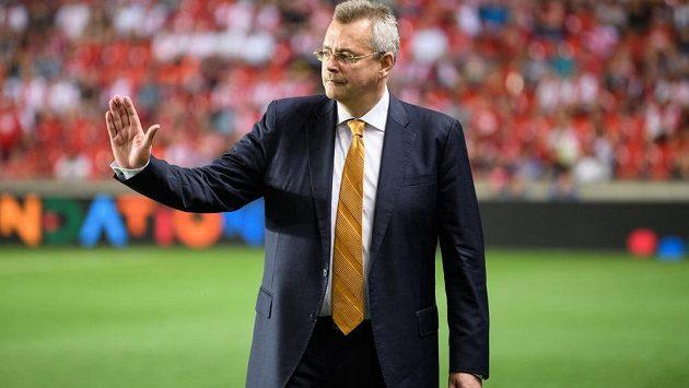 Předseda představenstva fotbalové Slavie Jaroslav Tvrdík