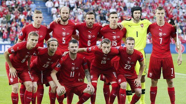 Česká reprezentace před zápasem ME s Tureckem.