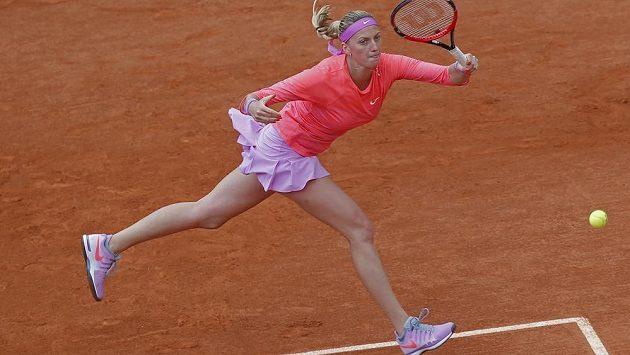 Tenistka Petra Kvitová v duelu proti Novozélanďance Marině Erakovicové.