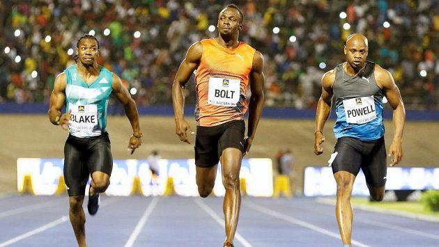 Sprinter Usain Bolt zvítězil v běhu na 100 m na jamajském šampionátu v Kingstonu.