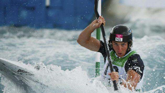 Novozélandský kajakář Mike Dawson v olympijské soutěži