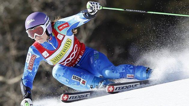 Slovinka Tina Mazeová během obřího slalomu v Aspenu.