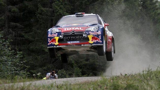 Sébastien Loeb s vozem Citroën DS3 WRC.