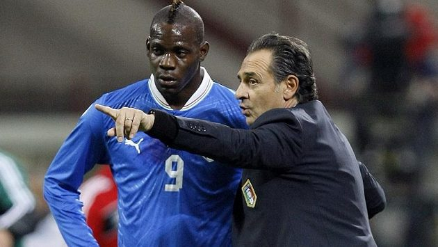 Kouč Cesare Prandelli byl s výkonem maria Balotelliho spokojen.
