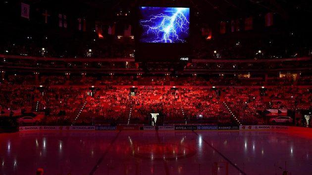 Slavnostní zahájení hokejového mistrovství světa v roce 2015 v pražské O2 areně - archivní foto.